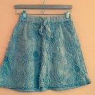 EUC MAX STUDIO Dusty Rose Bubble Skirt w/ Floral Ruffle Pattern SZ XSP