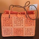 NWOT Naf Naf Orange 100% Paper Raffia Purse SZ Small