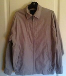 Authentic Bill Blass Black Label Basic Khaki Jacket Sz M 85% polyester 15% nylon