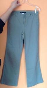 EUC Marc by Marc Jacobs Khaki Green Cotton  Flared Pants Trousers SZ 6
