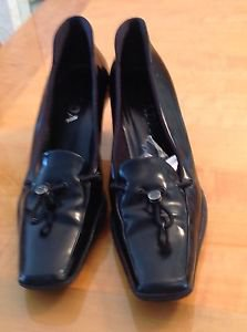 EUC Prada Black Patent Leather Heels w/ Drawstring Detail & Rubber Soles SZ 39.5