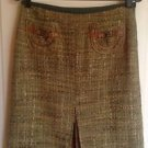 Authentic Cynthia by Cynthia Steffe Moss Green Tweed A Line Skirt SZ 6