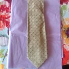 NWT VTG Kolte Textured Diamond Print Gold Blue Detail Neck Tie Handmade in Italy