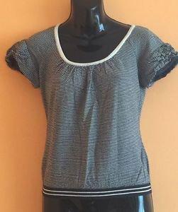EUC Moschino Cheap And Chic Cap Sleeve 100% Virgin Wool  Striped Sweater SZ S