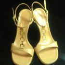 Authentic Nude Casadei High Heel T-Strap Sandals Sz 6.5