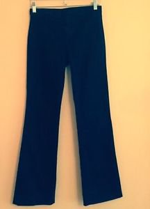 EUC HELMUT LANG Black Cotton Blend Flared Jeans SZ 25 Made in U.S.A.