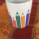 Vintage Multicolor Pencil Naaman Porcelain Mug, Made in Israel, Art Teacher Gift