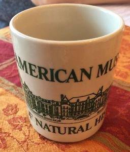 EUC VTG American Museum of Natural History Off White Mug w/ Green Detail