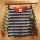 Pre-owned HANNA ANDERSSON Striped 100% Cotton Children's Pajama Top SZ 90/ US 3
