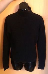 EUC Polo Jeans Co. by Ralph Lauren Black 100% Cotton Turtleneck Sweater SZ L