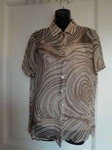 True VTG Givenchy Silk Chiffon Multicolor Giraffe Print Short Sleeve Camp Shirt