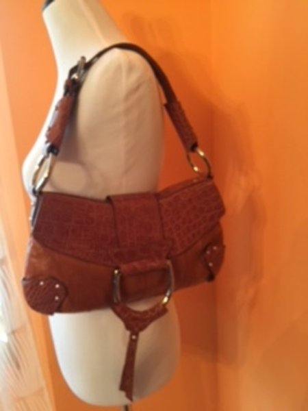 NWT DOLCE & GABBANA Caramel Leather Satchel Purse Silver Ring $2995 retail ITALY