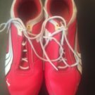 Pre-owned PUMA Red & White Women's Sneakers SZ US 7 Athleisure Sporty