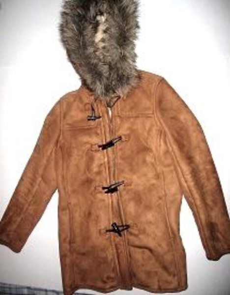 Pre-owned LAND'S END Women's Light Brown Jacket Size Small 6 to 8 Toggle Hood