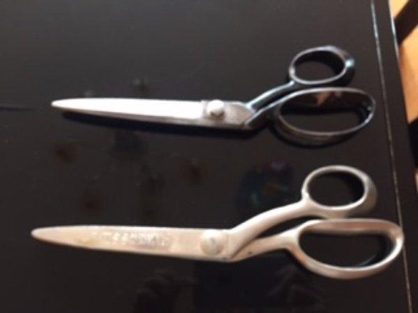 WISS Scissors Lot of 2 Professional Model AA Pinking Shears & WISS INLAID No. 20