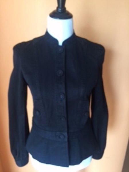 Pre-owned MARC by MARC JACOBS Black Denim Cotton Jacket SZ M