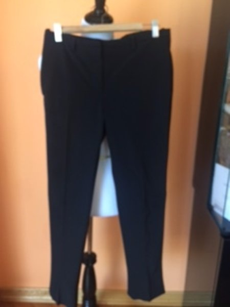 Pre-owned PRADA Black Straight Leg Riding Dress Pants SZ IT 42 Italy Career