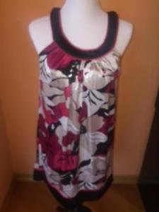 NWT SPEECHLESS Floral Print Pink White Black Sleeveless Tank Dress SZ Medium