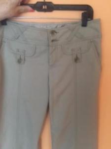 NWOT Beige Nanette Lepore Wide Leg Trousers Cotton Blend SZ 6