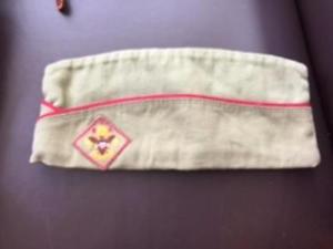 VTG Boy Scouts America SANFORIZED GARRISON Style HAT CAP SZ S 6 3/8-6 1/2- 6 5/8