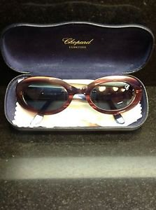 VTG Chopard Rounded Cat Eye Burgundy Mother of Pearl Effect Acrylic M C550 UV