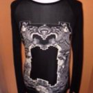 JEAN PAUL GAULTIER MAILLE FEMME Black Wool Long Sleeve Goth Sweater SZ XL