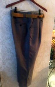Pre-owned 3.0 Phillip Lim Wool Blend Pants Grosgrain Mustard Yellow Belt SZ US 8