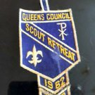 VTG BSA Queens Council Scout Retreat 1962-63 Dreidel Judaica Camping Americana