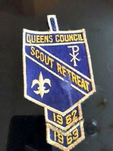 VTG BSA Queens Council Scout Retreat 1962-63 Dreidel Judaica Camping Americana