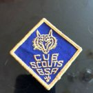 VTG BSA Patch Blue Diamond Cub Scouts Wolf Estate Sale Find Camping Americana