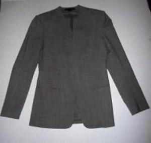 THEORY Women's Light Gray Blazer Size 4 Career Casual