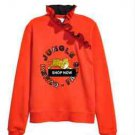 Kenzo x H&M Sweatshirt  Orange Tiger Ruffle Collar SZ XS runs large SOLD OUT
