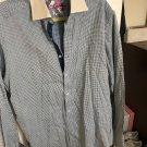 NWOT Robert Graham Men's 100% Cotton Blue & White Pattern Button Down SZ L