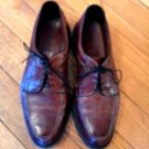 EUC ALLEN EDMONDS WILBERT Brown Red Leather Men's Laceup Shoes SZ 10.5 D
