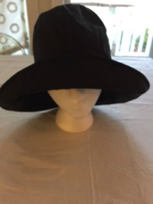 ANNE MOORE Black Rain Hat Made in New York SZ S **No Size Tag**