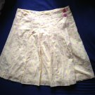 LILLY PULITZER Yellow with Pink Floral Eyelet Detail 100% Cotton Skirt SZ 10