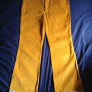 MARC by MARC JACOBS Mustard Yellow Corduroy Wide Leg Pants SZ 10 Made in Poland