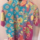 EUC ETRO Multicolor Floral Print Short Sleeve Polo SZ XXL Made in Italy