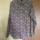 Mario Matteo  Floral Print Button Down Shirt SZ 41/16 Made in Italy