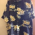 Men's TOMMY BAHAMA 100% Silk Black w/ Yellow Flower Detail SZ M