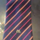 VTG McDonald's Navy Tie Red Brown Diagonal Stripe Uniform 1983 Movie Prop