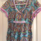 NWOT ROBERT GRAHAM Cotton Silk Blend Multicolor Paisley Print Blouse SZ S/P