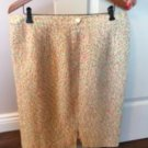 VTG Louis Feraud White Multi Tweed Lined Pencil Skirt SZ US 16 F 48