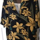 NWOT Tommy Bahama Men's 100% Silk Black Yellow Floral Detail SZ XL