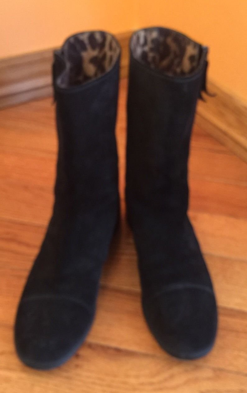 Pre-owned Stuart Weitzman Moto Motorcycle Boots  SZ 10M Made in Spain