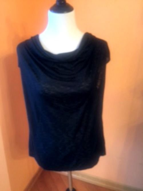 NWOT Adam by Adam Lippes Cowl Neck Black Tank SZ L Made in USA Retail $80+