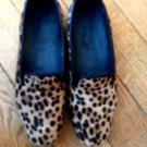 Pre-owned DONALD J. PLINER Pony Hair Animal Print Slippers SZ 6M