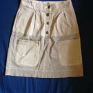 See by Chloe Cotton Blend Tan Denim Skirt SZ 4 Made in Italy