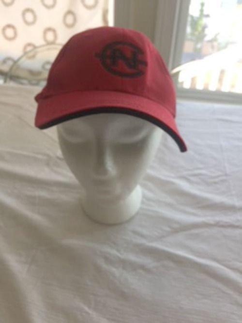 VTG 1990s NWOT NAUTICA Competition Cotton Blend  Red Snapback Hat SZ L/XL