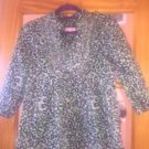 NWOT LILLY PULITZER Green & Navy Animal Print 100% Cotton Blouse Tunic SZ S
